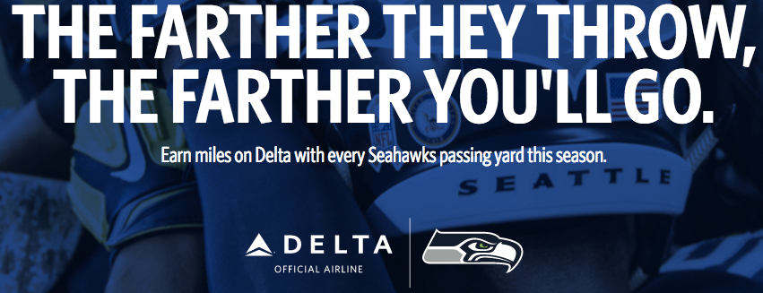 Delta and Seattle Seahawks Bonus Miles 2017