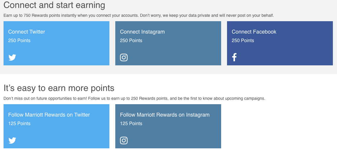 Earn 1,000 Marriott Rewards by Connecting Social Media Accounts