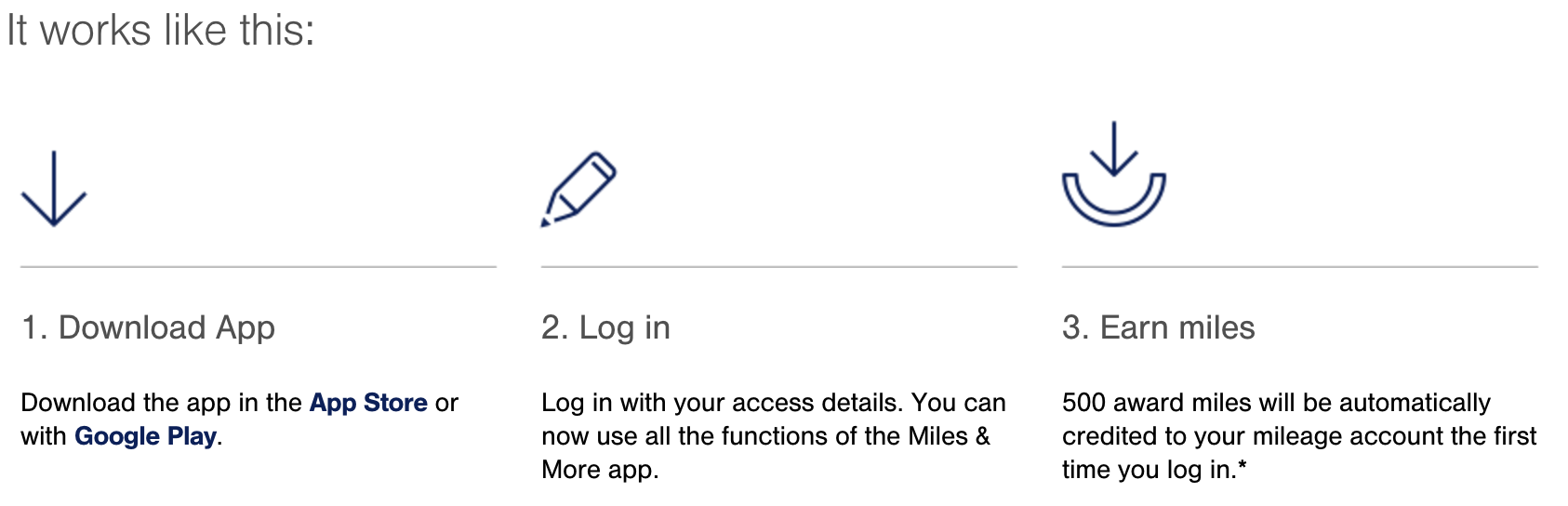 Lufthansa Miles and More App Download 500 Mile Bonus