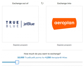 Transfer miles between programs on Points.com