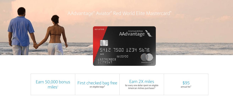 Aviator Red 50,000 Bonus Miles Banner