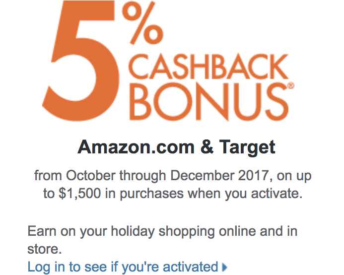 Discover 10% Cash Back at Amazon and Target - Oct Through Dec 10