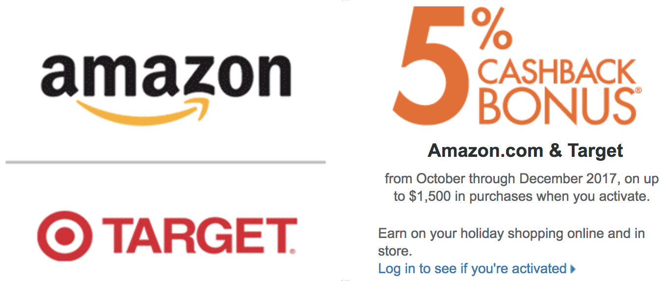 Discover 6% Cash Back at Amazon and Target - Oct Through Dec 6