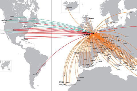 Worldwide By EasyJet - Route Map