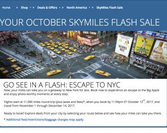 Delta Flash Sale October 2017 - Featured