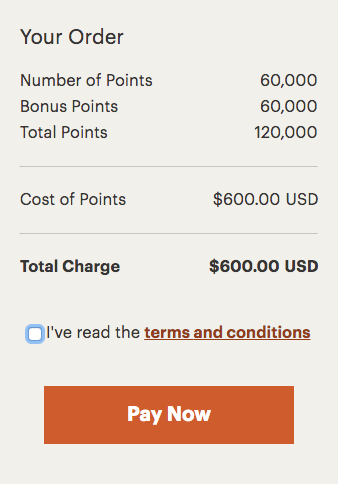 IHG 100 Percent points bonus through November 3 2017 - total price