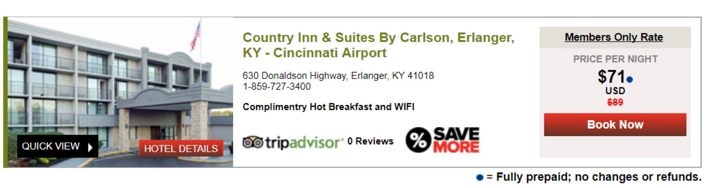 Club Carlson - Country Inn & Suites CVG