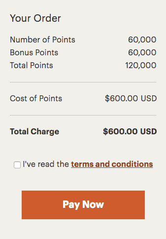 IHG Rewards 100 Percent Bonus Points Purchase through December 8 2017 Pay Now