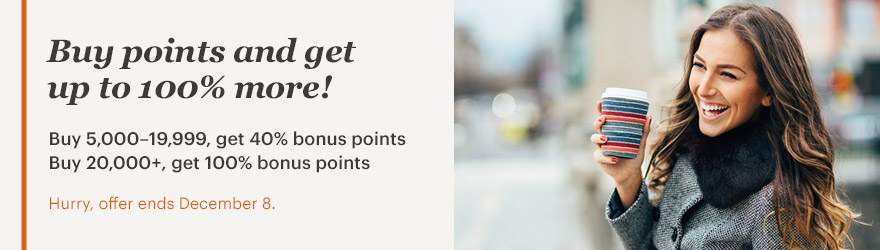 IHG Rewards 100 Percent Bonus Points Purchase through December 8 2017