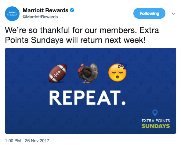 Marriott Rewards No Promo November 26 2017 - Featured
