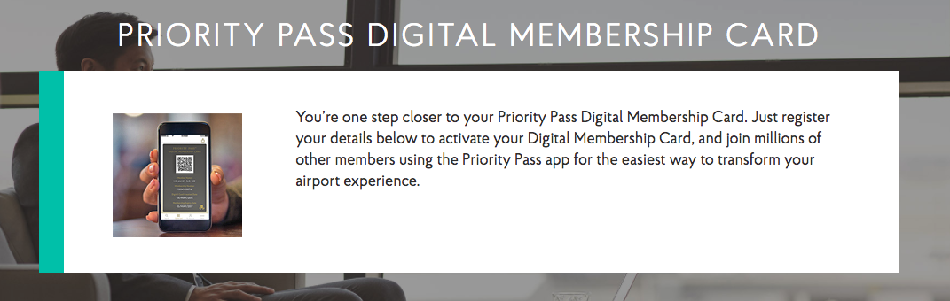 Priority Pass Digital Membership Card Banner