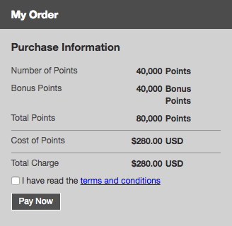 Purchase Gold Points Club Carlson - Checkout