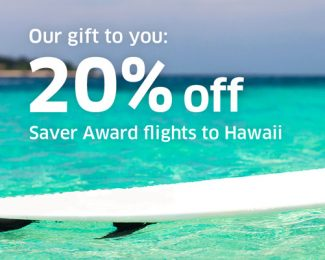 United 20 Percent Off Saver to Hawaii December 2017