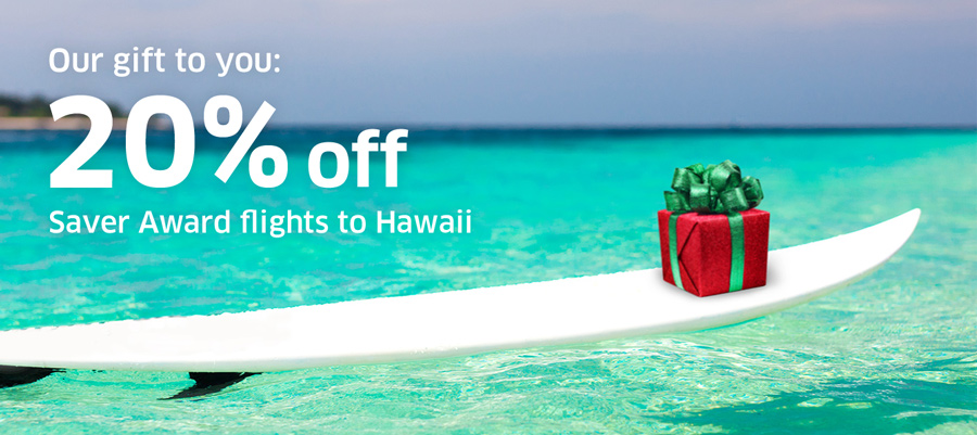 United 20 Percent Off Saver to Hawaii December 2017 - Banner