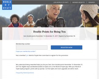 World of Hyatt End of 2017 Double Points Promotion - Featured