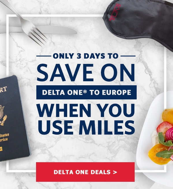 Delta One Flash Sale December 2017