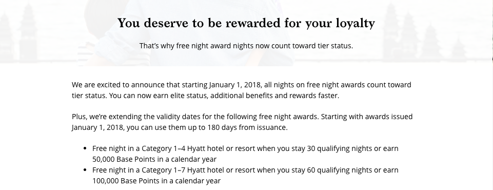 World of Hyatt January 2018 Changes