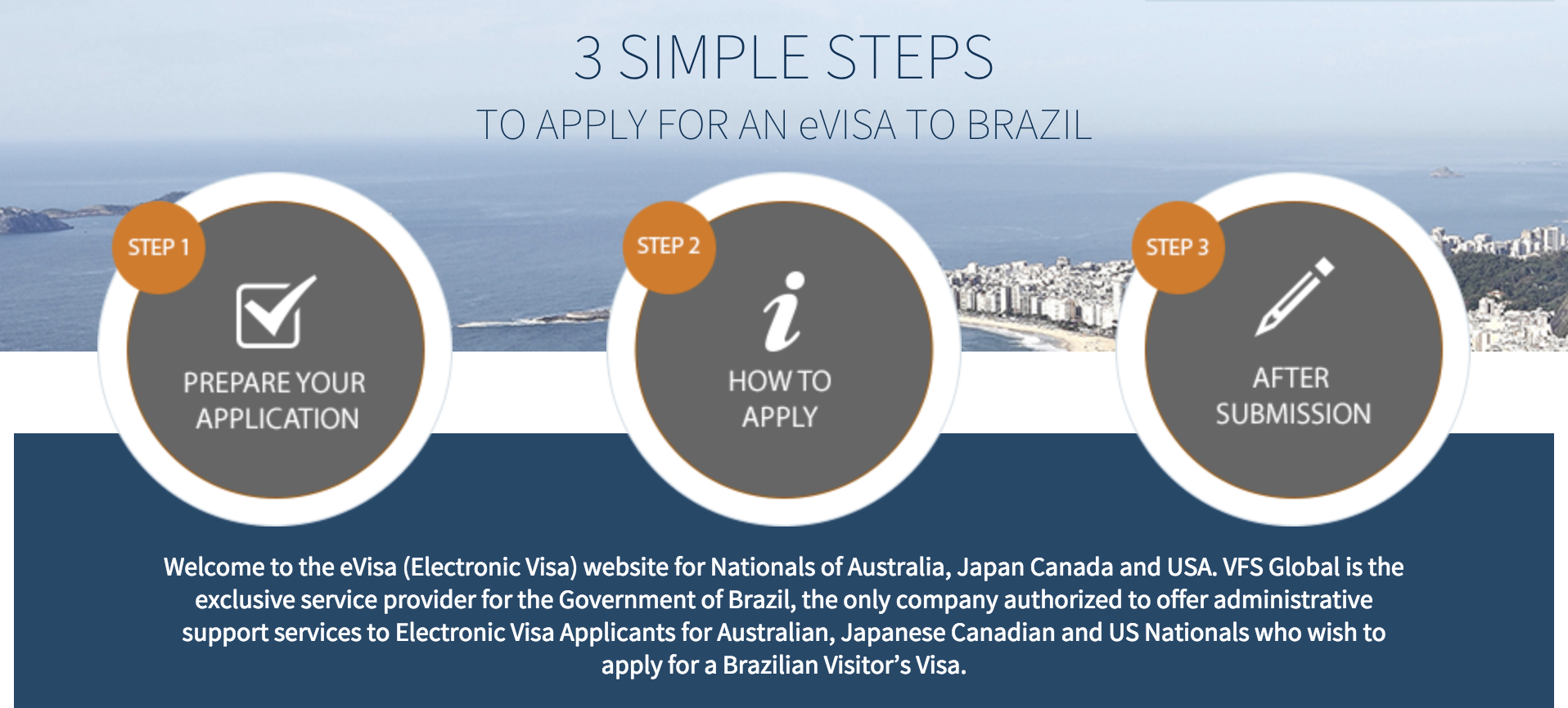 Brazil eVisa Website