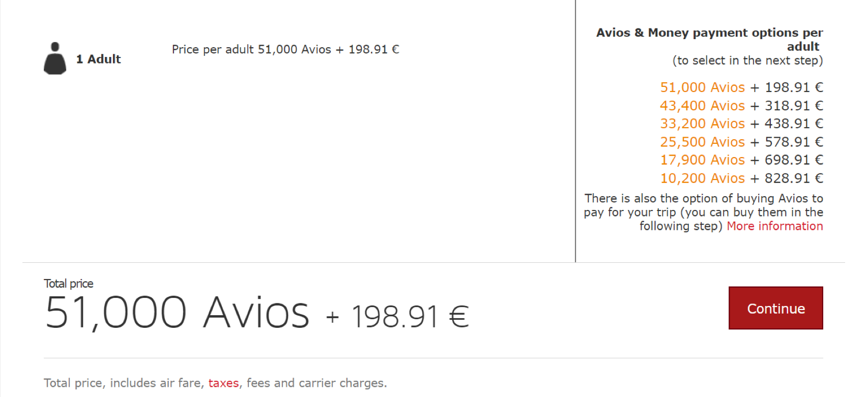 Iberia Avios 25 Percent Off Award Sale Through January 31 2018 - ORD-MAD-ORD-Total