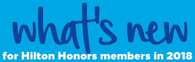 What is new for Hilton Honors members in 2018
