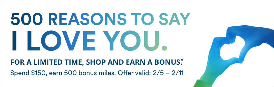 2018 Valentines Day Shopping Portal Bonus - Alaska MileagePlan
