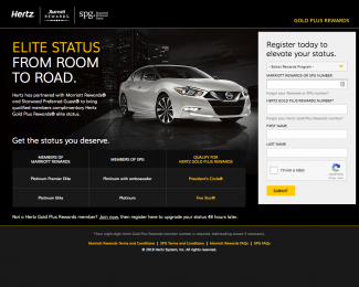 Hertz Marriott SPG Free Elite Status