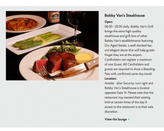 Priority Pass - Bobby Vans Steakhouse JFK