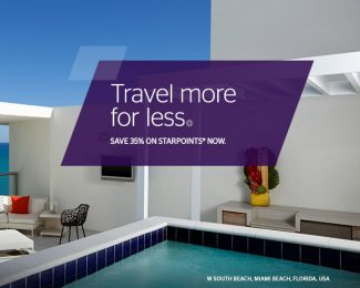 SPG Buy Points 35 Percent Off through March 2018