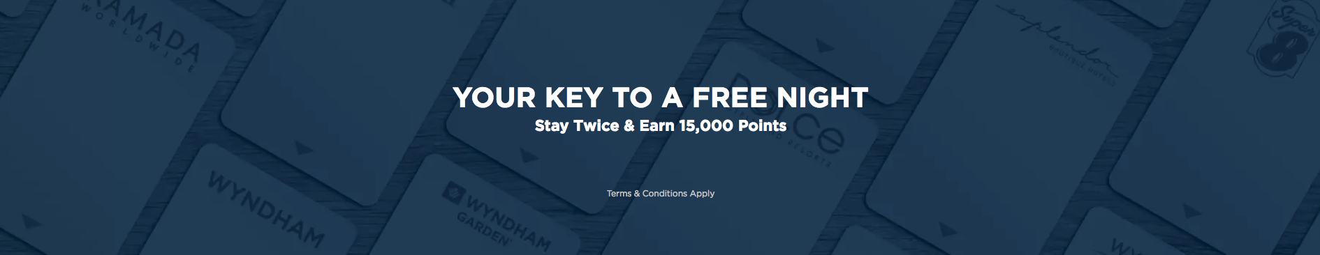 Wyndham Rewards Stay Twice Get 15000 Points Promotion Banner