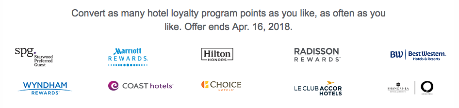 25 Percent Transfer Bonus to Aeroplan Spring 2018 Options