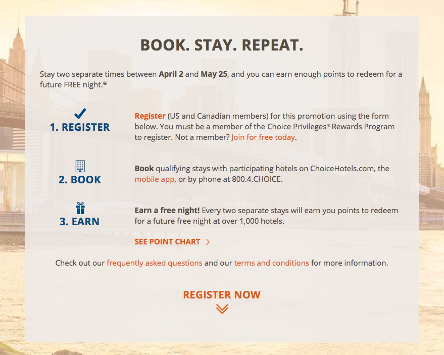 Choice Hotels Spring 2018 Promotion