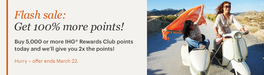 IHG 100 Percent Bonus Purchase Banner March 2018