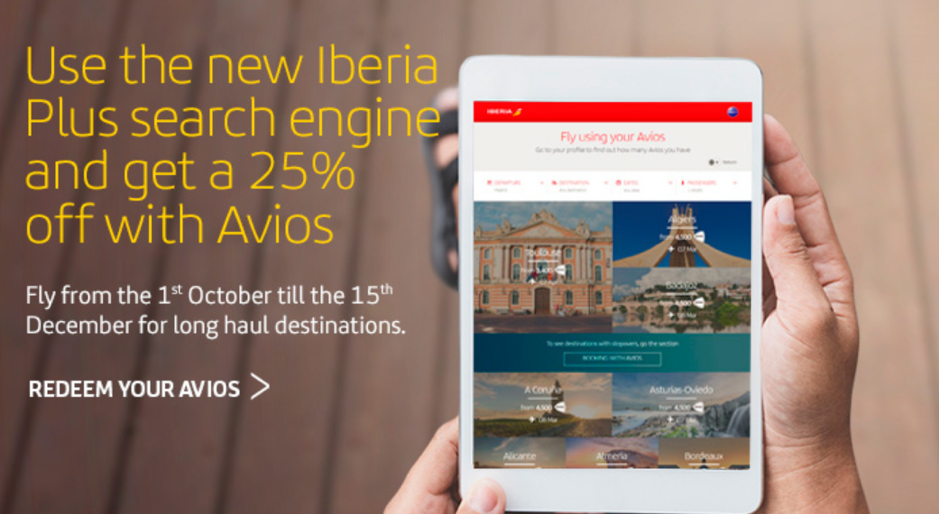 Iberia 25 Percent Off Award Sale Book by March 18 2018