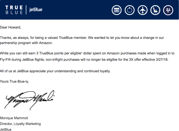 JetBlue and Amazon ending Partnership