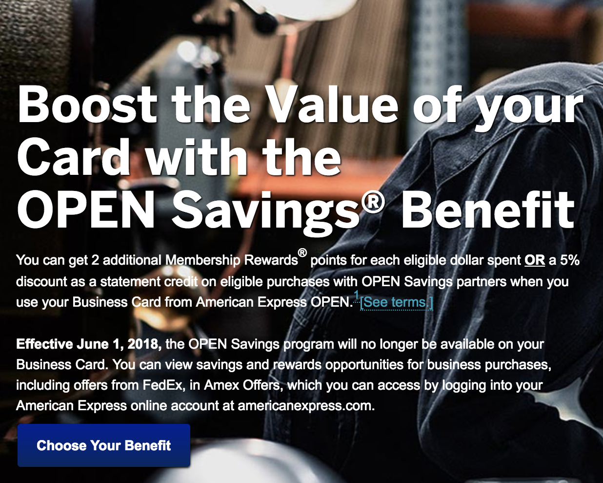 Amex Ends OPEN Savings Program (June 1, 2018) - AwardWallet Blog