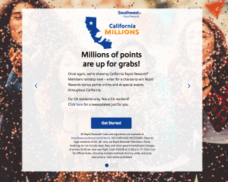 Southwest Million Point Giveaway
