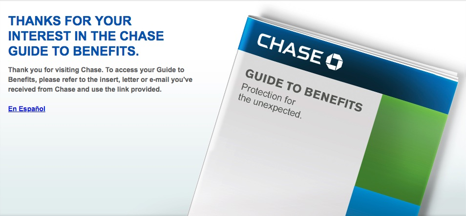 Chase Benefits Banner