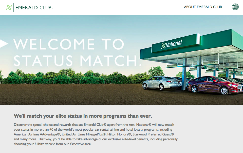 National-Emerald-Status-Match