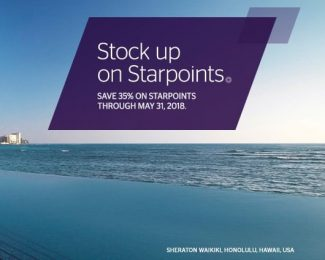 Purchase SPG Points Through May 31 2018