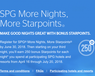SPG and Marriott Summer 2018 Promotion Featured