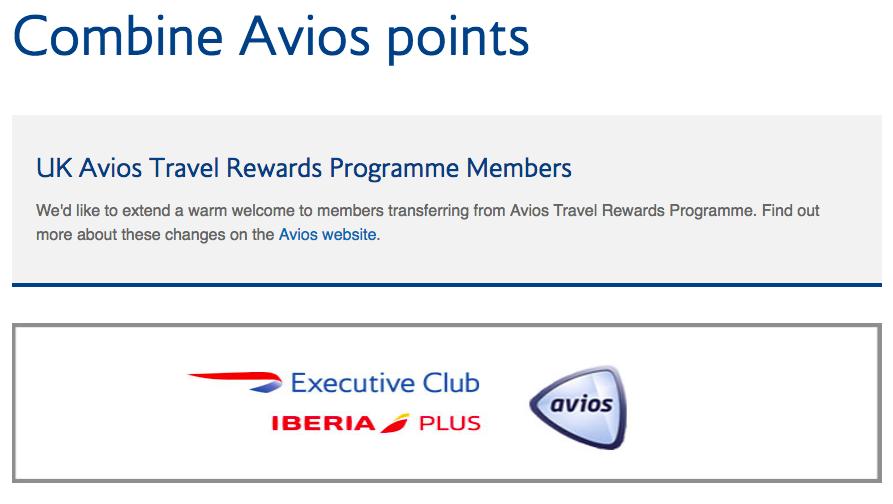 Combine-Avios-Points