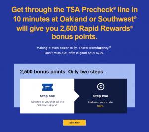 Southwest TSA Precheck Promotion