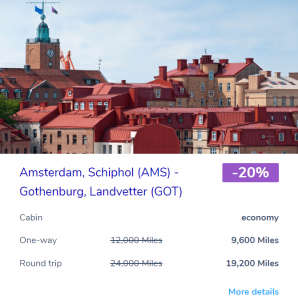 Amsterdam to Gothenburg