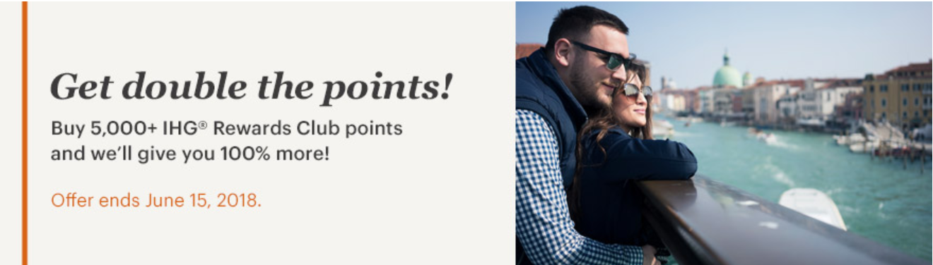 Buy IHG points with a 100% bonus