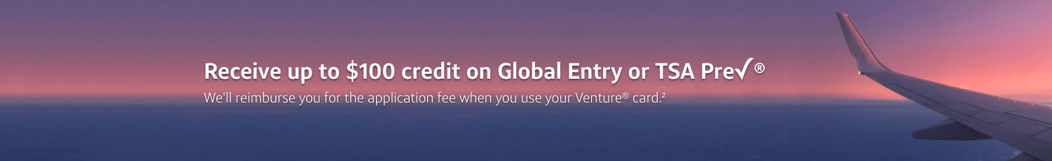 Capital One Venture Global Entry TSA Pre credit