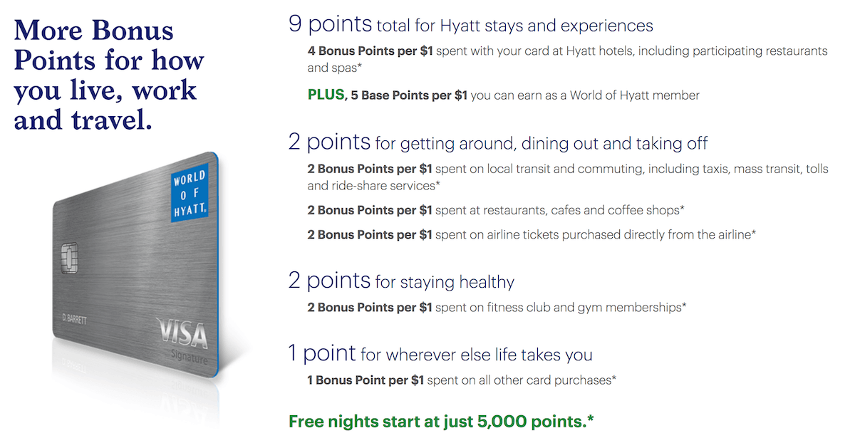 Details Of The New World Of Hyatt Credit Card From Chase