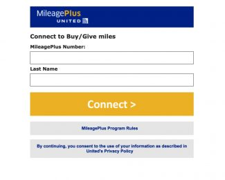 Purchase United Miles