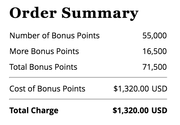 World of Hyatt Points Purchase Promotion Summer 2018 - Max Purchase