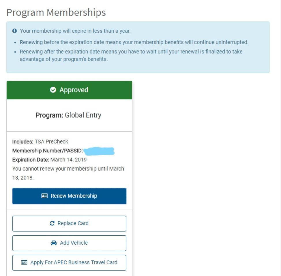 Global Entry Membership on Login.gov
