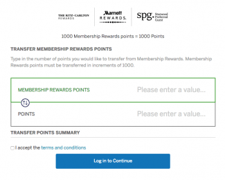 Transfer Membership Rewards to Marriott Rewards